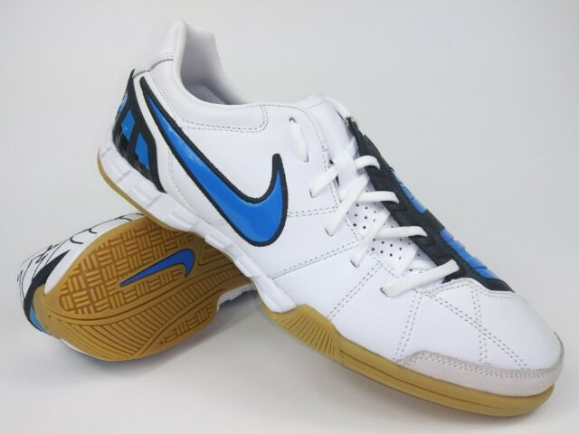 Nike Mens Rare Total90 Shoot lll L IC 385437 141 White Blue Indoor Soccer Shoes