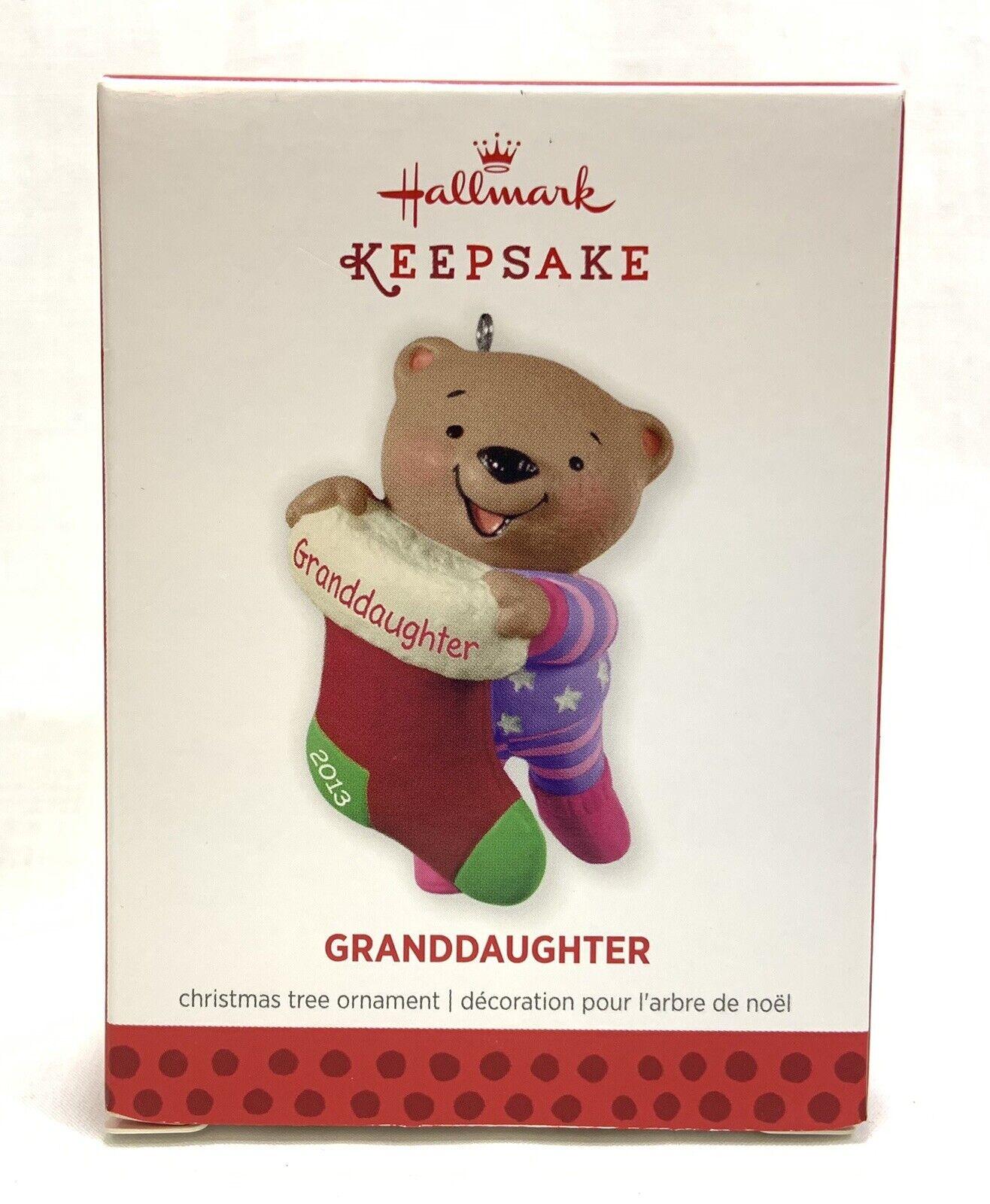 Hallmark Ornament Grandson 2013 Bear Christmas Stocking NIB