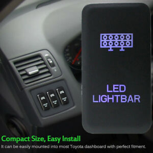 12V Push Switch Red LED Bar DRIVING LIGHT For Toyota FJ Cruiser Fortuner Tacoma