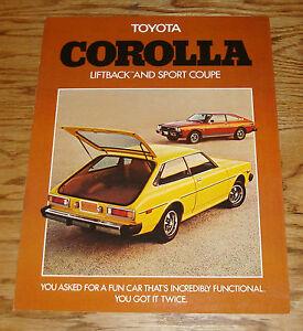Original-1976-Toyota-Corolla-Liftback-amp-Sport-Coupe-Sales-Brochure-76
