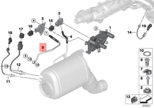 Genuine BMW E70N E71 F01 F07 F10 Exhaust Pressure Pipe Sensor OEM 13628506727