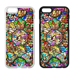 new concept 68eef 104f7 Details about STAINED GLASS DISNEY Character Inspired Phone Case Cover For  iPhone Samsung New