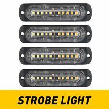 4x Led Amberwhite Strobe Light Kit Emergency Warning Hazard Flash Car Truck Eoa
