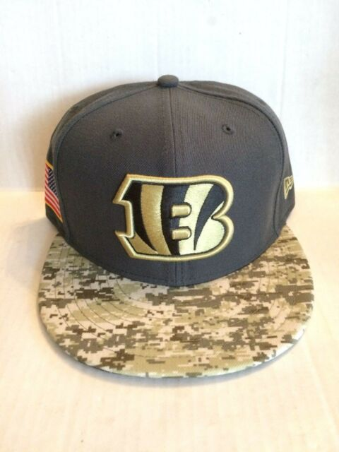 Cincinnati Bengals New Era 59Fifty NFL 2016 Salute to Service Fitted Hat 7  5 8 71076bf95