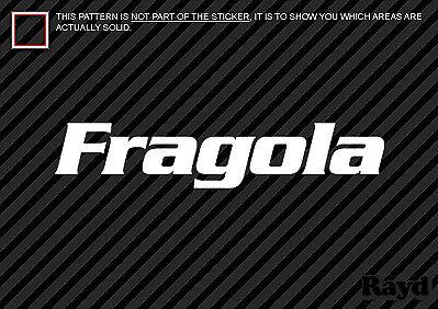 """8/"""" wide 2x Fragola Decal Sticker Die Cut"""