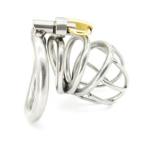 New-High-Quality-Male-Chastity-Device-Bird-Lock-Stainless-Steel-Cage-A224-1