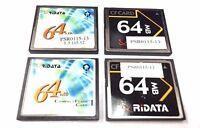 4-Pack Lot RiData 64MB CF CompactFlash Memory Card Compact Flash (FREE SHIPPING)