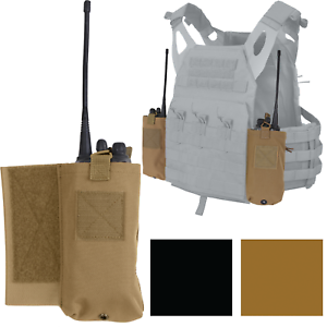Radio Pouch Set For Side Tactical Lightweight Armor Plate