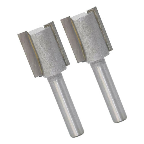 2pcs 1//4inch Shank Carbide Flute Tipped Straight Router Bit Milling Cutter