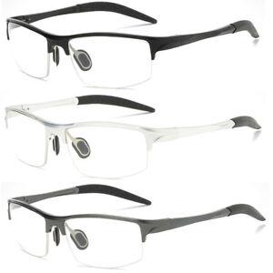 0e9801f4ff62 Image is loading New-Mens-Aluminium-Sport-Eyeglass-Frames-Myopia-Glasses-