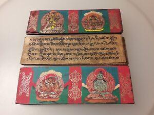 100% Vrai Manuscrit Du Tibet (tibet Manuscript)-afficher Le Titre D'origine