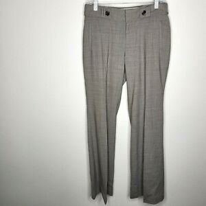 Banana Republic Jackson Fit Trousers Gray Brown Stretch Wool Pants Size 6 NWT