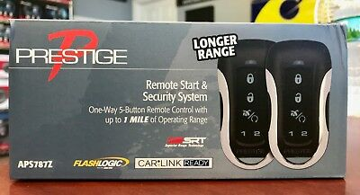 Prestige APS787Z One-Way Remote Start with Keyless Entry and Security System up to 1 Mile Range