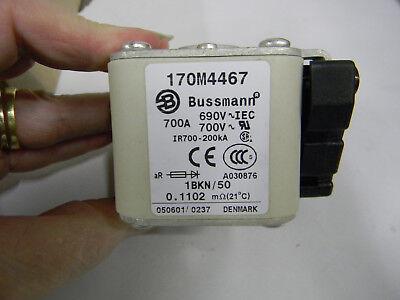 New Bussmann Buss 170M4467 Semiconductor Fuse 700 amp 690 volt   K4