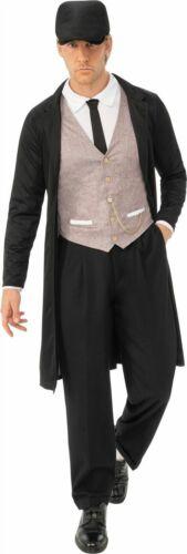 Da Uomo 1920s KM.. malaticcio Gangster Costume paraocchi Costume Adulti Outfit