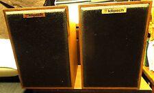 Vintage Klipsch KG1, Oak Veneer Speakers 2-Way, Consecutive Serials, Sound Gr8!