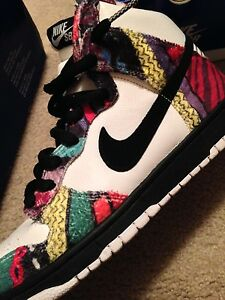 Sz 9 Nike Dunks Huxables Huxable Cosbys Bill Cosby Sweater Shoes Ebay