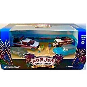 Greenlight-Green-Machine-Ron-Jon-Surf-Shop-Diecast-Model-Diorama-Chase-VW-HTF
