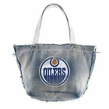 NHL Edmonton Oilers Vintage Tote in Cotton - Blue denim purse