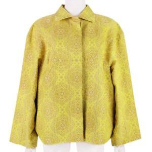 Stella-McCartney-Luxurious-Yellow-Tone-Jacquard-Batwing-Jacket-IT42-UK10