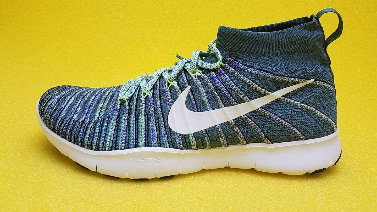 Nike Free Train Force Flyknit New Men All Sizes White Hyper Grape Fast Free S&H.