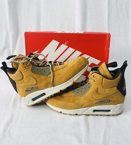 quality design dea35 c24e3 Image is loading Nike-Air-Max-90-Sneakerboot-Winter-Waterproof-Wheat-