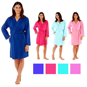 5ffe4b4b77a1 Image is loading Ladies-Kimono-Wrap-Jersey-Cotton-Dressing-Gown-Summer-