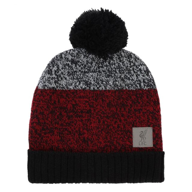 97c2fd94241 Liverpool FC Red Mens Football Colour Block Beanie AW 18 19 LFC Official