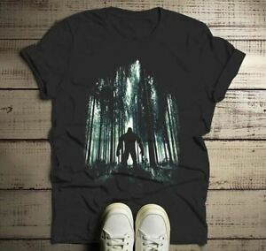 450da210d Men's Cool Bigfoot T-Shirt Forest Sasquatch Tee Grunge Hide Seek ...