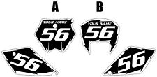 2005-2006 KTM 450 SX Custom Pre-Printed Black Backgrounds White Shock Series