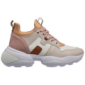 Hogan Sneaker damen interaction hxw5250ch20pax0ram Leder Logo Beige schuhe