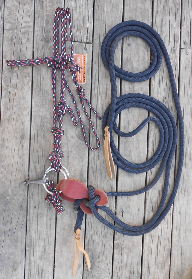 COMPLETE BRIDLE and MECATE 22 FT MECATE and SET - Professionally Made - 770efe