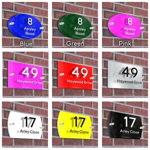 Personalised House Door Number Signs Acrylic Glass Effect Door Number Plaque