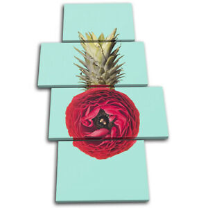 Pineapple-Flower-Concept-Food-Kitchen-MULTI-CANVAS-WALL-ART-Picture-Print