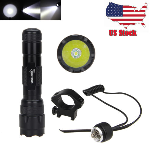 5000 LM XM-L T6 LED Tactical Flashlight Hunt Torch 18650 Weaver Picatinny Mount