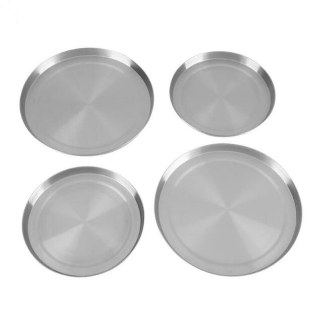 4Pcs/Set Stainless Steel Kitchen Stove Top Covers Burner Round Cooker Protec 9O3