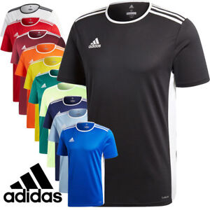 Adidas-Entrada-18-short-T-shirt-Climalite-Football-Gym-tops-Activewear-Jersey