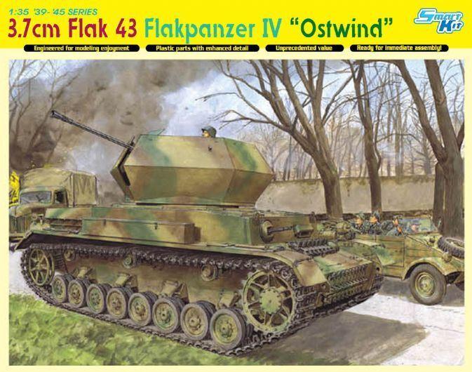 3,7Cm Flak 43 43 43 Flakpanzer Iv  Ostwind  (Smart Kit) Dragon Kit 1 35 D6550 3efe6b