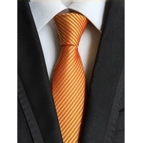 63Color Men/'s Ties Silk Neck Ties 8cm Jacquard Stripes Solid Dot Classic Necktie