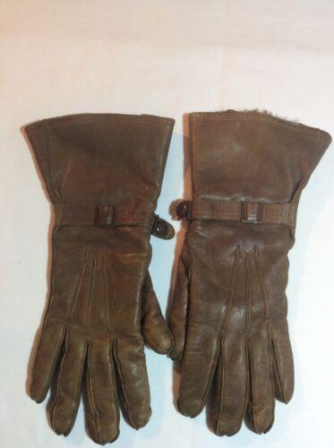 Vintage Hansen Ladies Leather Gauntlet Gloves - image 1