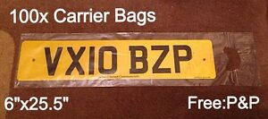 100x-NUMBER-PLATE-CARRIER-BAGS-6-034-X-25-5-034