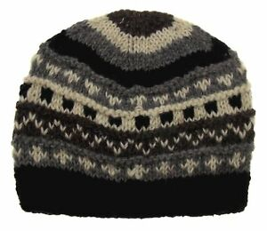 fd5048e5c1514 Details about Winter Hat Earth Ragz 100% Wool Rolled Fleece Lined Soft Warm  White Black Gray