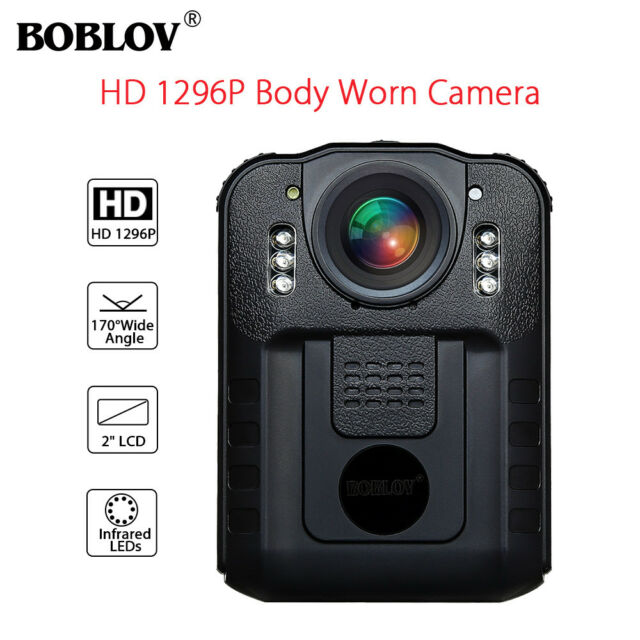 Boblov Police Body Worn Camera DVR HD 1296P Night Vision Infrared H.264 NT96650