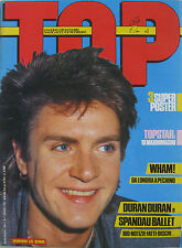 TOP 1 1985 Simon Le Bon Duran Duran Wham! Spandau Ballet Madonna Sade Paul Young