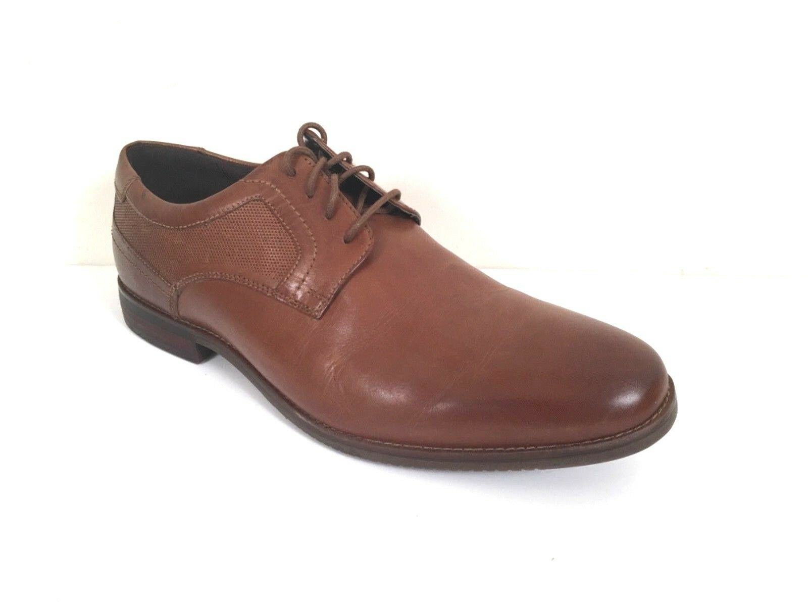 Rockport Tobacco Plain Toe Brown Oxford, Dress Leather shoes 12 W Men's 12W Wide