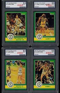 1984-Star-CELTICS-CHAMPS-SET-of-50-cards-3-cards-PRO-graded-9-5