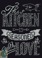 Cross Stitch Kit Design Works This Kitchen Saying Chalkboard / Room Sign #DW2885