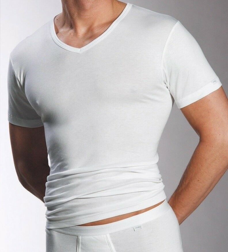 3 X Mey Noblesse Maillot Corps V-neck 2807 Taille 9 Couleur: Blanc