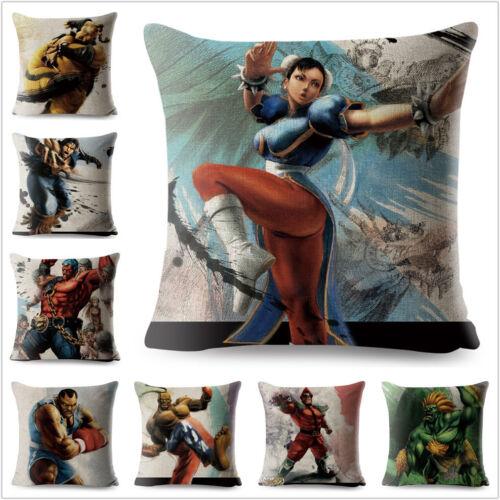 Pillow Cover Game Blanka Dan Chun-Li Cushion Covers Pillow Case Pillowcase