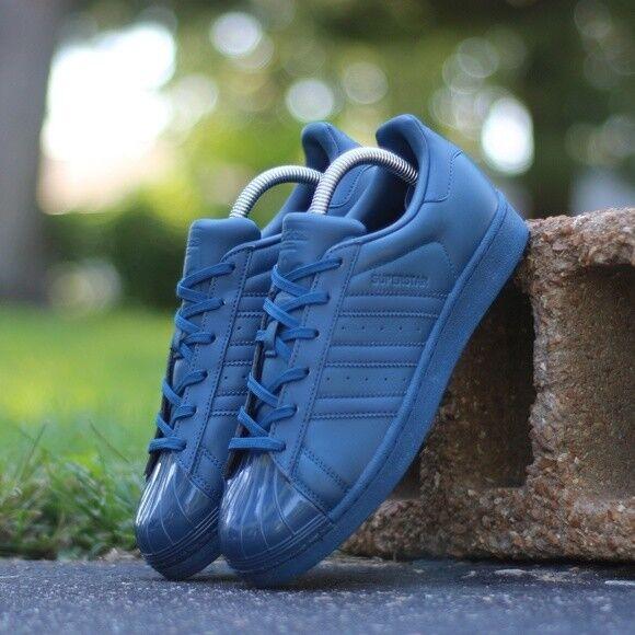 adidas superstar blue womens